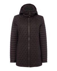 Andrew Marc | Black Quilted Hooded Anorak | Lyst