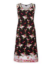 James Lakeland - Black Embroidered Midi Dress - Lyst