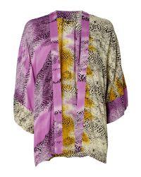 Biba - Multicolor Snake Printed Kimono - Lyst