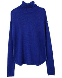 Mango - Blue Turtleneck Sweater - Lyst