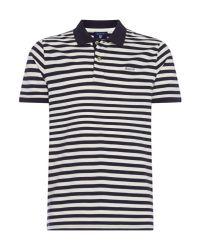 Gant - White Men's Short Sleeve Bar Stripe Polo Shirt for Men - Lyst