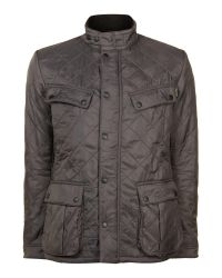 Barbour | Gray Quilted International Ariel Polar Jacket for Men | Lyst