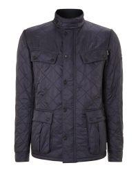 Barbour | Blue Quilted International Ariel Polar Jacket for Men | Lyst