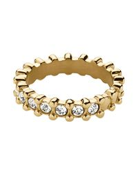 Dyrberg/Kern | Metallic Gafa Shiny Gold Crystal Ring | Lyst