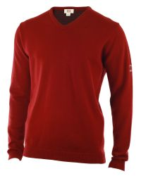 Cutter & Buck | Red Lambswool V Neck Sweater for Men | Lyst