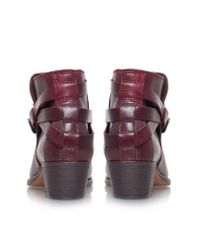 H by Hudson - Red Horrigan Low Block Heel Ankle Boots - Lyst