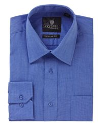 Skopes | Blue Easy Care Regular Fit Long Sleeve Shirt for Men | Lyst