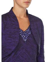 Eliza J - Purple Crushed Taff Dress With Jacket - Lyst