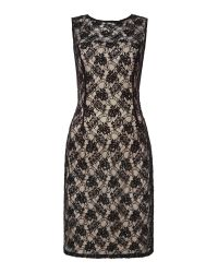 JS Collections | Black All Over Lace Dress With Beaded Detail | Lyst