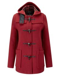 Gloverall | Red Mid Length Slim Duffle Coat | Lyst