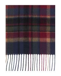 Barbour | Blue Vintage Winter Plaid Scarf | Lyst