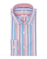 Richard James | Pink Stripe Tailored Fit Long Sleeve Shirt for Men | Lyst