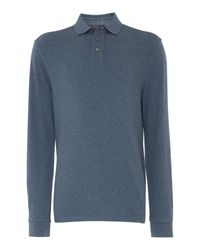 Howick | Blue Paxton Plain Pique Long Sleeve Polo Shirt for Men | Lyst