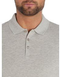 Calvin Klein | Gray Paul Cotton Polo Shirt for Men | Lyst