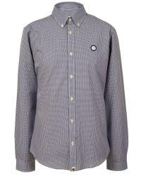 Pretty Green   Gray Glendale Gingham Shirt for Men   Lyst