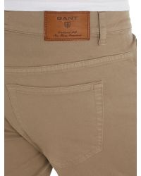 GANT - Brown Jason Comfort Desert Twill Jeans for Men - Lyst