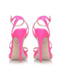 Carvela Kurt Geiger - Pink Georgia High Heel Strappy Sandals - Lyst