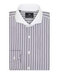 Chester Barrie | Gray Stripe Tailored Fit Long Sleeve Shirt for Men | Lyst