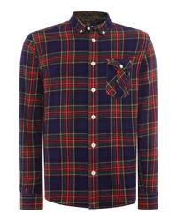 Duck and Cover | Green Schofield Long Sleeve Tartan Shirt for Men | Lyst