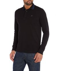 Duck and Cover - Black Jordan Long Sleeve Polo Shirt for Men - Lyst