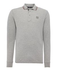 Duck and Cover | Gray Jordan Long Sleeve Polo Shirt for Men | Lyst