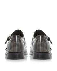 Bertie | Black Reggi Double Toecap Monk Shoes for Men | Lyst