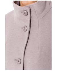 Basler - Gray Wool Coat With Cashmere - Lyst