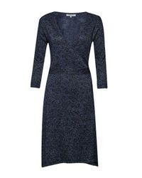 Great Plains | Blue Baroque Rock Wrap Dress | Lyst