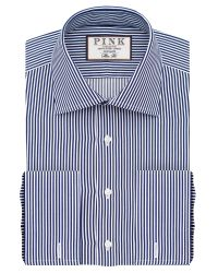 Thomas Pink | Blue Grant Stripe Slim Fit Button Cuff Shirt for Men | Lyst