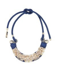 Max Mara | Blue Naiadi Embellished Necklace With Tie | Lyst