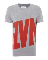 ELEVEN PARIS | Gray Roda Regular Fit Crew Neck Tee for Men | Lyst