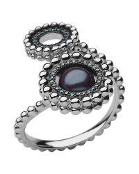 Links of London | Metallic Effervescence Pearl Double Ring | Lyst