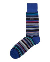 Calvin Klein - Blue Barcode Stripe Sock for Men - Lyst