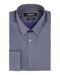 Kenneth Cole   Purple Benton Slim Fit Twill Shirt for Men   Lyst