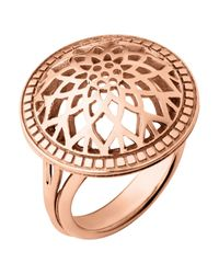 Links of London | Pink Timeless Rose Gold Domed Ring | Lyst