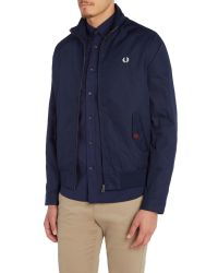Fred Perry - Blue Zip Blouson Jacket for Men - Lyst