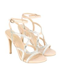 Jane Norman - Natural Strappy Heel - Lyst