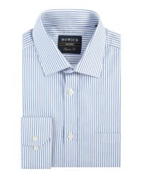 Howick | Blue Bennington Bengal Stripe Shirt for Men | Lyst