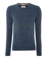 Tommy Hilfiger | Blue Original Cotton Blend Sweater for Men | Lyst