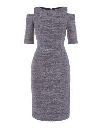 Eliza J | Black Cold Shoulder Jersey Shift Dress | Lyst