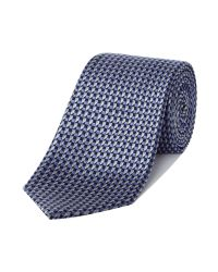 Chester Barrie | Blue Silk Tie - Cube for Men | Lyst
