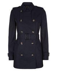 Jaeger | Blue Short Classic Trench Coat | Lyst