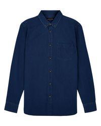 Jaeger | Blue Indigo Shirt for Men | Lyst