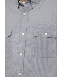 French Connection - Blue Swimming Bubble Connery Shirt for Men - Lyst