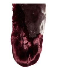 Ted Baker - Purple Avril Two Tone Detail Fur Scarf - Lyst