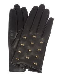 Ted Baker - Black Ailara Micro Bow Detail Leather Glove - Lyst