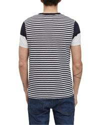 French Connection - Blue Shake Down Sriped T-shirt for Men - Lyst