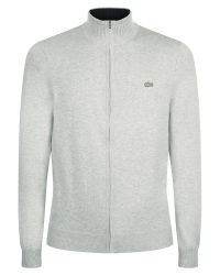 Lacoste | Gray Half Zip High Collar Sweater for Men | Lyst
