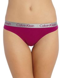 Calvin Klein - Blue Boxed Radiant Cotton Thong 3 Pack - Lyst