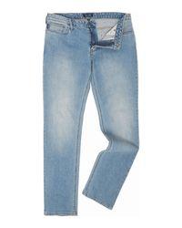 Armani Jeans   Blue J06 Slim Fit Light Wash Jeans for Men   Lyst